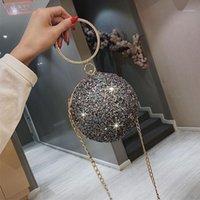Chain Bags Woman Handbag Shoulder Bag Purse Crystal Ball Party Glitter Cross Body Female Birthday Gifts For Girls Shining Design1