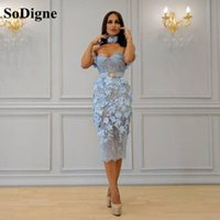 Party Dresses SoDigne Mermaid Prom Dress With Belt Lace Appliques 3D Flower Sweethearts Mother Evening Formal Wedding Guest