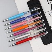 شاشة اللمس المعدنية الإبداعية الصانع الكريستال القلم التحكم الدوارة القلم حفر المياه السعة الكرة نقطة القلم