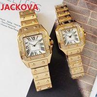 Famous Full Steel classic designer watch Luxury Crystal Diamonds Men Women Watches quartz Bracelet Chain Dress Japan Movement Square Roman Wristwatch