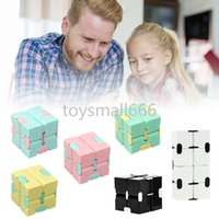 Exquisite Puzzle Cube Decompression Toy Infinity Magic Cube For Adults Kids Anti-stress Anxiety Desk Toy Multi Colors