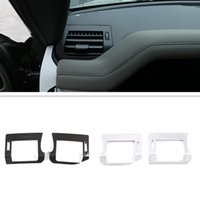 ABS Plastic Car Dashboard AC Vent Frame Cover Trim Stickers Fit For Land Rover Defender 110 130 Auto Interior Accessories