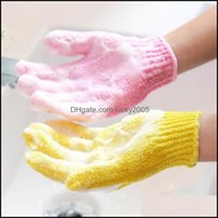 Brushes, Sponges Scrubbers Bathroom Aessories Home & Garden100Pcs Lot Body Cleaning Shower Exfoliating Five Fingers Bath Gloves Convenient A