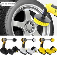 Drill Brush Scrub Kit Set Motorcycle Accessories With Extension Rod For Car Cleaning Washer