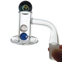 Spinner Cap de vidro Ruby Ruby Rebarls 14mm 10mm Acessórios Masculinos Fumadores Od 20mm Blender Spin Spin Quartz Banger 90/45 Dobrando Beveled Edge