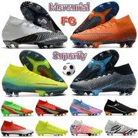 2022 Мужские футбольные ботинки Mercurial Superfly 7 Elite FG черно-белый синий пустота Total Orange Lemon Venom Anthracite Jogo Prismatico дизайнер футбольные блюда кроссовки