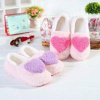 Slippers Autumn Winter Women's Fluffy Love Pattern Furry Slides Ladies Home Bedroom Floor Footwear Non-slip Girls Socks Slipper
