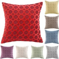 Cushion Decorative Pillow Flocked Red Decorative Cushion Covers Pillowcase Cushions For Sofa Pillowcover Velvet Cover Living Room