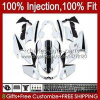 川崎忍者Z-1000 Z 1000 R 2010-2013 Z-1000R Z1000 10 11 12 13 Z1000R 2011年2011年2012年OEM Bodywork光沢のある白