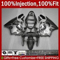 Stampo ad iniezione OEM per Kawasaki Ninja ZZR600 600CC Body 100% Fit 600 cc 05-08 Bodywork 38HC.131 ZZR 600 05 06 07 08 GREY SILVERY ZZR-600 2005 2006 2007 2008 Full Fairing