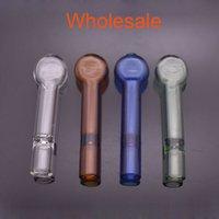 Großhandel billig Pyrex One Hfter Bat Mini 8 cm Zigarettenhalter Glas Dampfroller Rohrfilter für Tabak Trockner Kräuter Öl Brenner Handleitungen