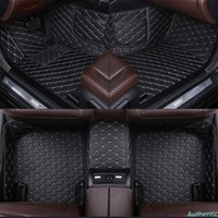 Leather Custom car floor mat for INFINITI FX35 ESQ EX25 JX35 G25 G35 G Coupe M25 M35 M45 carpet carpet Phone pocket