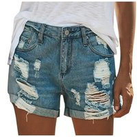 Underpants 2021 Plus Size Casual Summer Denim Women Shorts Jeans High Waists Fur-Lined Leg-Openings Sexy Short #YL5
