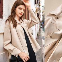 Women's Jackets Women 's 2021 Short Coat Versatile Spring And Autumn Imitation Suede Loose Style Retro Top Jacket