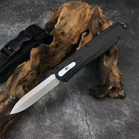 High Quality Automatic Tactical Knife 3Cr13Mov Double Action Blade Stainless Steel Handle EDC Pocket Knives With Nylon Sheath