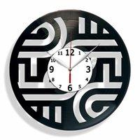 Wall Clocks Creative Novelty Living Room Vintage Retro Clock Movie CD Record Large 3D Home Decor Watch