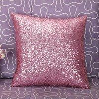 Almofada / Travesseiro Decorativo Fronha Sólida Cor Glitter Lantejoulas de Prata Bling Case Capa Café Decoração Decoração Coxim Capa Decorativo 2021 #jew