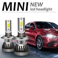 New 2PCS H7 LED 8000LM Pair Mini Car Headlight Bulbs H1 LED H4 H8 H9 H11 Headlamps Kit 9005 HB3 9006 HB4 Auto LED Lamps
