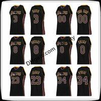 로스 앤젤레스레이커스Davis 8 Bryant 0 Kuzma 23 James 34 O'Neal Ring Basketball Black Anthony Kyle Lebron Collection Jersey08