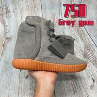 Alto 750 Mens de Luxo Correndo Tênis Cinzento Gum Triplo Black Og Top Quality Moda Homens Treinadores de Designer Sneakers US 7-11.5