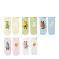 Kids Socks Baby Boys Accessories Cotton Animal Cartoon Girls Booties Spring Summer Long First Walker Shoes 0-3Y Cute B5178
