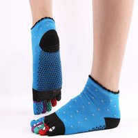 Socks Funny Cartoon Five Fingers Antiskid Pilates Sos Toe Separate Indoor Casual Man Sports Women Cotton Yoga