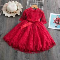 Lace Christmas Dress Girls New Year Costume Princess Wedding...