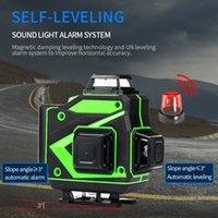 16 linhas 4D Nível a laser verde auto-nivelamento 360 Horizontal e vertical transversal remoto sem fio poderoso
