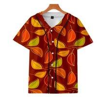 Maglia da baseball da uomo Maglia 3D T-shirt stampata a bottone stampato Unisex Summer Casual Donnershirds Hip Hop Tshirt Teens 065