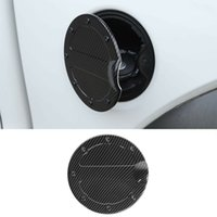 Fuel Tank Cover Gas Door Cap For Ford F150 Raptor 09-14 ABS Carbon Fiber