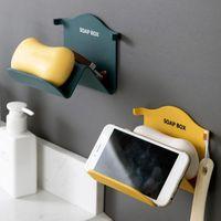 Support de savon mural sans soudure de haute qualité Studage de drainage de stockage de drainage Stickers Stickers Boîte sans trous Plats