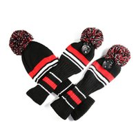 3PCS вязаное гольф головы чехлы 1-3-5 для водителя и фарватер-лес с длинным шейным дизайном винтажные носки Club Custs