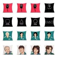 TV Squid Game Masked Man Pillow Case 20 Designs Square Circle Round Bossman Pillowcase Home Sofa Car Decor Cushion Pillows Covers