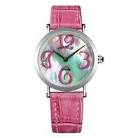 Mulheres flamejantes assistir alta qualidade 4 cores 316L caso de aço pulseira pulseira de couro pulseira relógio de pulso japonês movimento de movimento 31mm