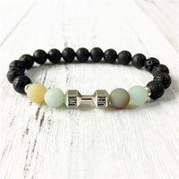 Charm Bracelets 2021 STYLE Lava Stone Yoga Mala Bracelet NATURAL Matte Amazonite Energy Wrist Jewelry Gift For Men