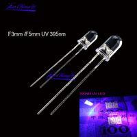 Light Beads 100PCS UV LED Diode DIP 3mm 5mm Diodes Clear 395nm Ultraviolet Ultra Violet Kit