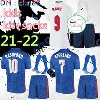 2021 2022 Jersey di calcio 2021 Kane Sterling Vardy Rashford Dele 20 21 Squadre Nazionali Camicia da calcio Gioventù Kids + Uniformi calzini