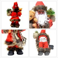 Christmas Gift Electric Musical Dancing Toy Santa Claus Doll Party Supplies Christmas Decoration Kids Gifts Fitting G0930