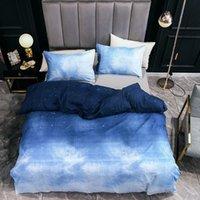 침구 세트 현대 대리석 깃털 패턴 Duvet 커버 베개 3 조각 멀티 사이드 침실 장식 홈 섬유 세트