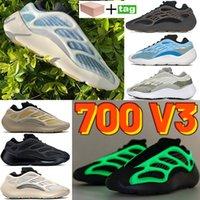 2021 700 V3 الاحذية Kyanite القرطم الطين البني أزاري يتوهج في المدربين الداكنين عاكس الرجال المرأة أحذية رياضية مع صندوق