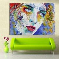 Ağlayan Renkli Amerikalı Kadın Portre Büyük Yağlıboya Tuval Ev Dekor Handpainted HD Baskı Duvar Sanatı Resimleri Özelleştirme Kabul Edilebilir 21052728