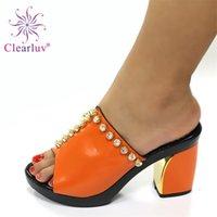 Latest Design High Heels Women Wedding Shoes Nigerian Party Pumps African Sandal Luxury 210910