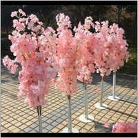 Imitation cerise arbre coloré artificiel cerisier arbre arbre romain colonne romaine route plomb centre commercial ouvrant des accessoires d'art fer arte fleur portes d lqmtj