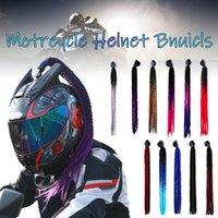 Motorcycle Helmets 2021 Helmet Braids Woman Wig For Motorbike 11 Colors Twist Dual Pigtail Ponytail With Sucker Bow
