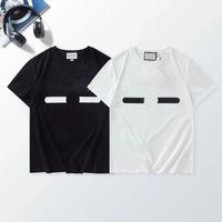 S-4XL 럭셔리 인쇄 패턴 남성용 T 셔츠 대형 느슨한 패션 성격 남자 디자인 셔츠 여성의 짧은 고품질 흑백