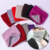 Neck Scarf Winter Women Men Solid Knitting Collar Thick Warm Velveted Rings Scarves High Quality Allmatch Muffler