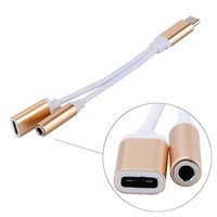 2 in 1 Charger And Audio Type C Earphone Headphone Jack Adapter Connector Cable 3.5mm Aux Headphone Jack Audio Adapter For Samsung Galaxy S8