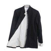 Мужская повседневная двойная палуба куртка осень зимнее пальто традиционный китайский тан костюм Тай Chi United хлопковые топы куртки