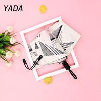 Umbrellas YADA Ins Large Windproof Umbrella Folding Rainy Plaid For Women Men Anti-UV Luxury 3 Fold Parasol Paraguas YD210015