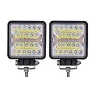 2st 150W Cube LED Light Pods 4 tums 4x4 Off Road Driving Lampa för ATV UTV SUV bil 10-30V Golf Cart Lights med Amber DRL Warning Beam